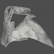 Chills & Thrills Dino Chalk Skeleton Stamp