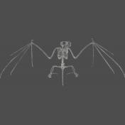 Chills & Thrills- Bat Chalk Skeleton Stamp 1
