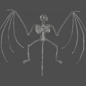 Chills & Thrills- Bat Chalk Skeleton Stamp 2