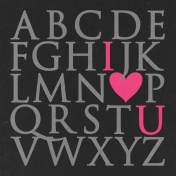 Toolbox Valentine's Kit 1- 4x4 I Love You Journal Card