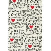 Toolbox Valentine's Kit 1- 4x6 Love Words Journal Card