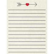 Toolbox Valentine's Kit 2- 3x4 Arrow Journal Card