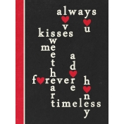 Toolbox Valentine's Kit 2- 3x4 Crossword Puzzle Journal Card