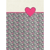 Toolbox Valentine's Kit 2- 3x4 Floral Heart Journal Card