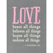 Toolbox Valentine's Kit 2- 3x4 1 Corinthians 13:7 Journal Card