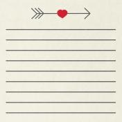 Toolbox Valentine's Kit 2- 4x4 Arrow Journal Card