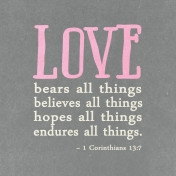 Toolbox Valentine's Kit 2- 4x4 1 Corinthians 13:7 Journal Card