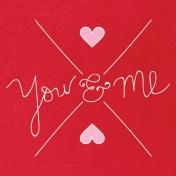 Toolbox Valentine's Kit 2- 4x4 You & Me Journal Card
