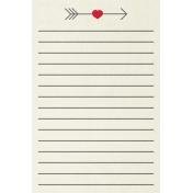Toolbox Valentine's Kit 2- 4x6 Arrow Journal Card