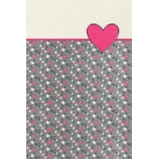 Toolbox Valentine's Kit 2- 4x6 Floral Heart Journal Card