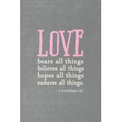 Toolbox Valentine's Kit 2- 4x6 1 Corinthians 13:7 Journal Card