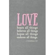 Toolbox Valentine's Kit 2- 4x6 1 Corinthians 13:7 Journal Card
