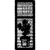 Letter Border Stamp Template 002