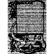 Letter Border Stamp Template 003