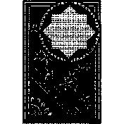 Letter Border Stamp Template 004