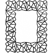Letter Border Stamp Template 006