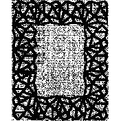 Letter Border Stamp Template 006