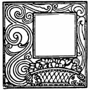 Letter Border Stamp Template 007