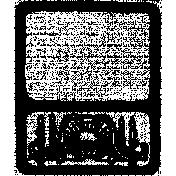 Letter Border Stamp Template 013
