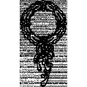 Letter Border Stamp Template 014