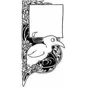 Letter Border Stamp Template 017