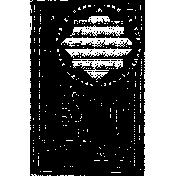 Letter Border Stamp Template 021