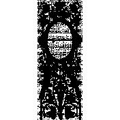 Letter Border Stamp Template 023