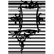 Letter Border Stamp Template 026