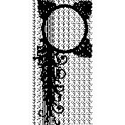 Letter Border Stamp Template 027