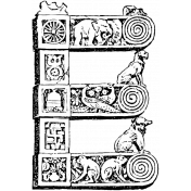 Letter Stamp Template 005