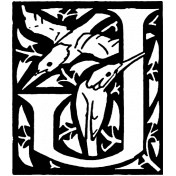 Letter Stamp Template 013