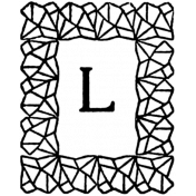 Letter Stamp Template 015