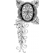 Letter Stamp Template 056