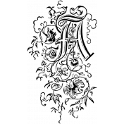 Letter Stamp Template 072