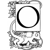 Letter Stamp Template 092