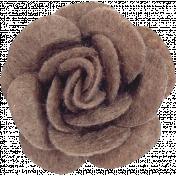Cozy Day- Brown Felt Flower