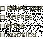 Cozy Day- Checklist