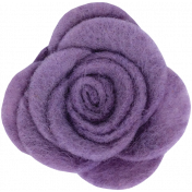 Cozy Day- Purple Felt Flower