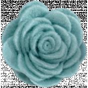 Cozy Day- Teal Felt Flower