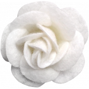 Cozy Day- White Felt Flower