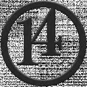 Toolbox Numbers- Black Circle Number 14