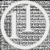 Toolbox Numbers- White Circle Number 11