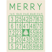 Memories & Traditions- Merry Bingo Card