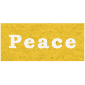 Memories & Traditions- Peace Word Art
