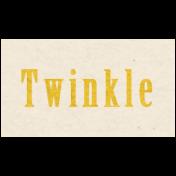 Memories & Traditions- Twinkle Word Art