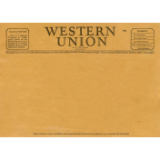 Grandpa's Desk- Western Union Ephemera
