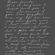 Memories & Traditions- Chalk Handwriting Letter 1