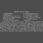 Memories & Traditions- White Fruit Cake Chalk Recipe