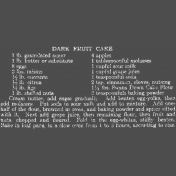Memories & Traditions- Dark Fruit Cake Chalk Recipe