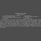 Memories & Traditions- Orange Tea Cake Chalk Recipe